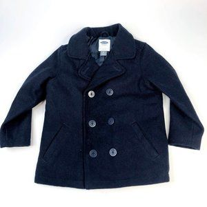 Old Navy Boys Insulated Pea Coat Navy Blue 4T